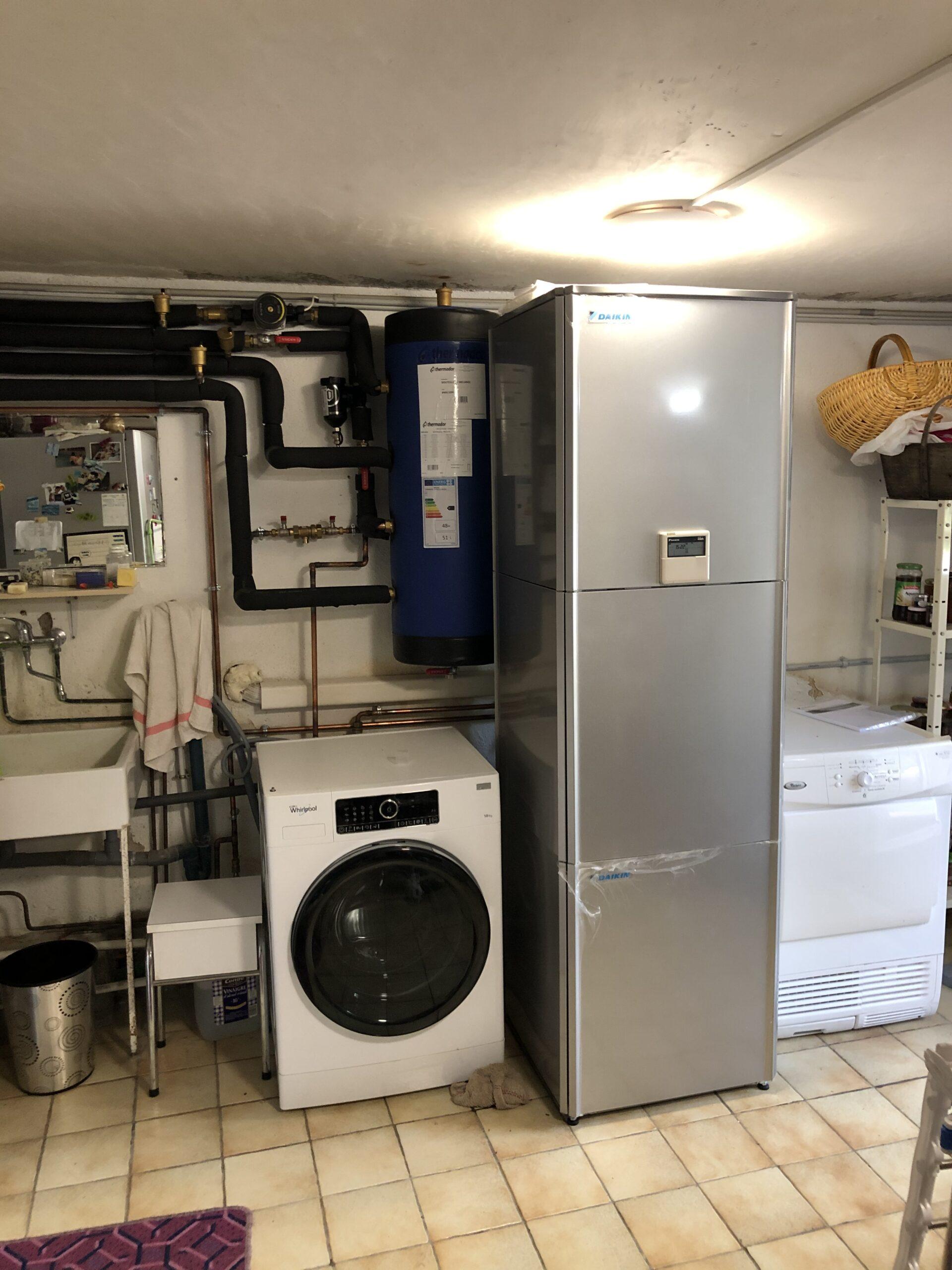 Installation d'une pompe à chaleur air/eau par Techniclim 21