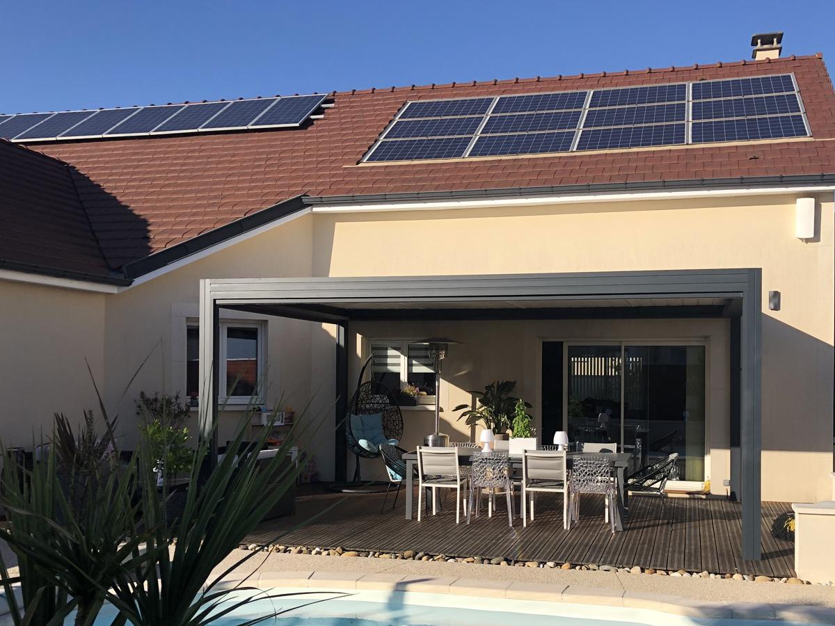 Installation de panneaux solaires par Techniclim 21